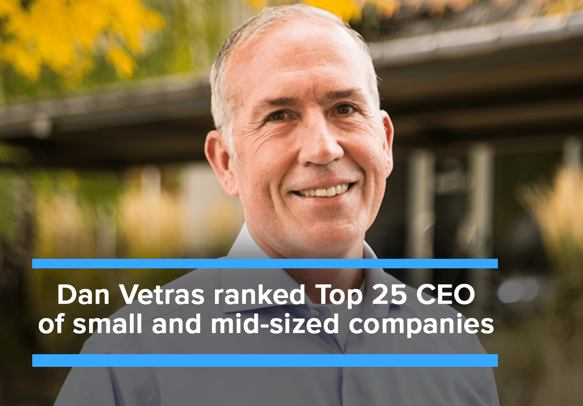 Kollective CEO, Dan Vetras, ranked Top 25 CEO of small to mid-size companies