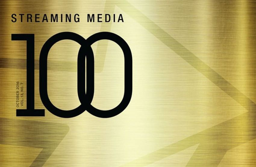 Golden background with Streaming Media 100 titled over it to the left